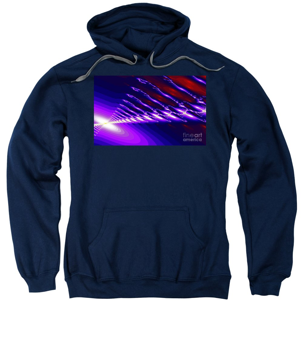Clay Sweatshirt featuring the digital art Ambient Noise by Clayton Bruster
