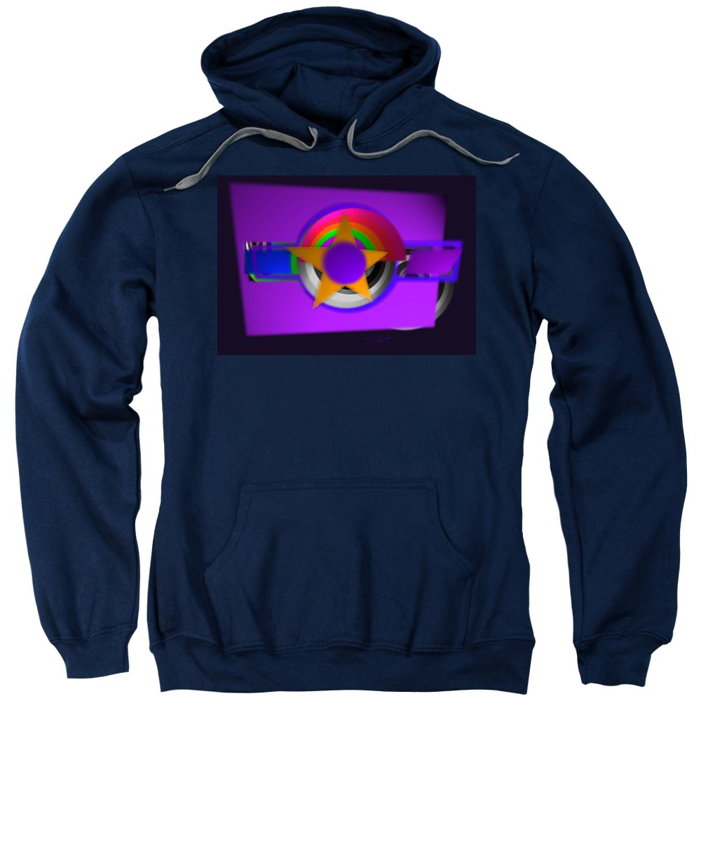 Usaaf Sweatshirt featuring the painting American 3d by Charles Stuart