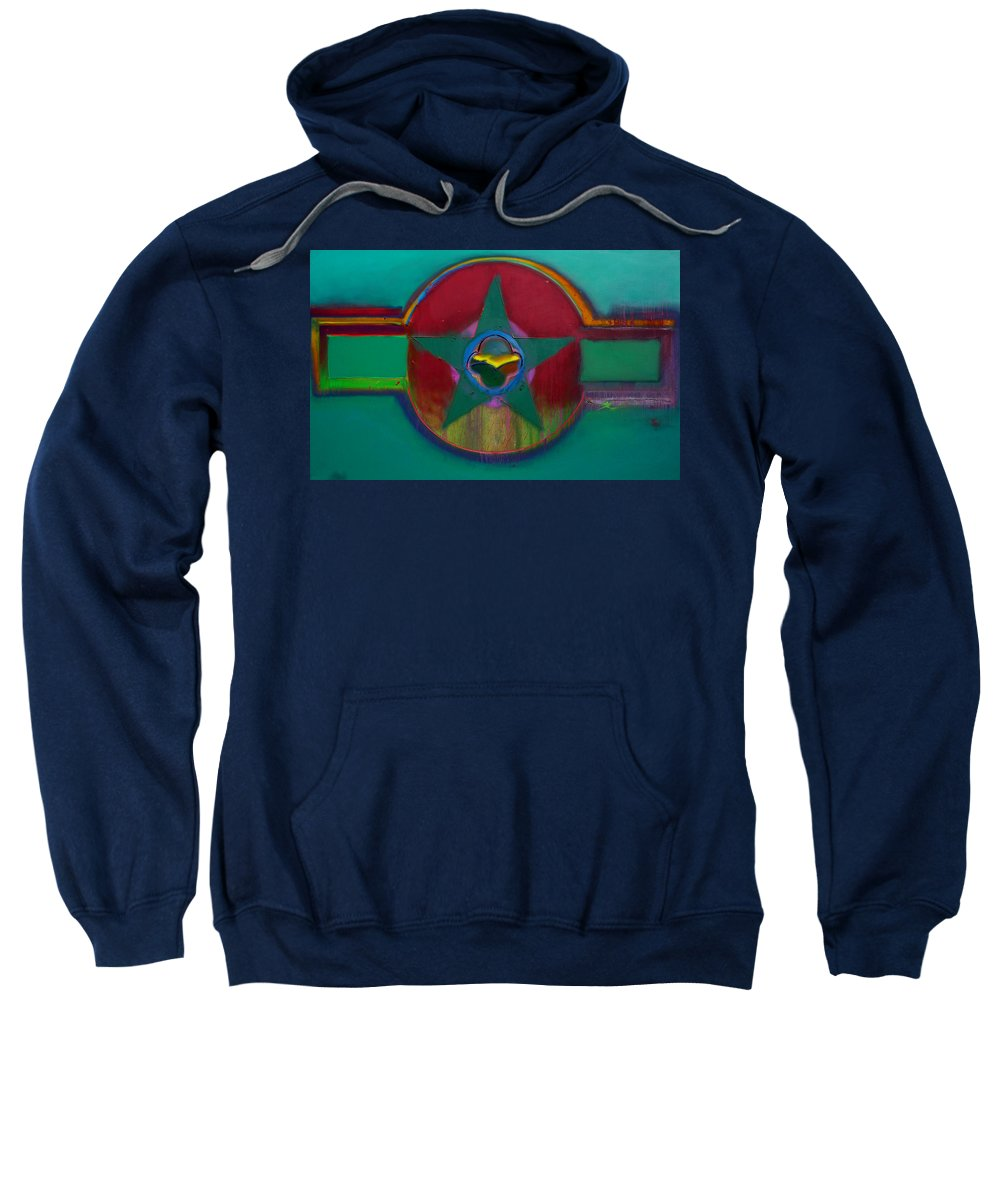 Landscape Sweatshirt featuring the painting American Army Landscape by Charles Stuart