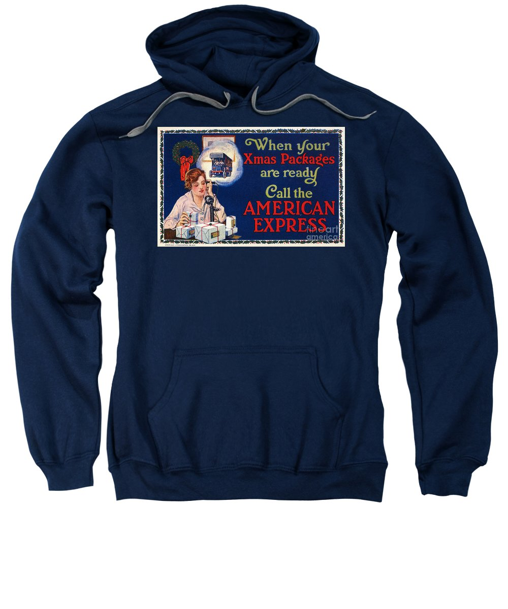 1915 Sweatshirt featuring the photograph American Express Shipping by Granger
