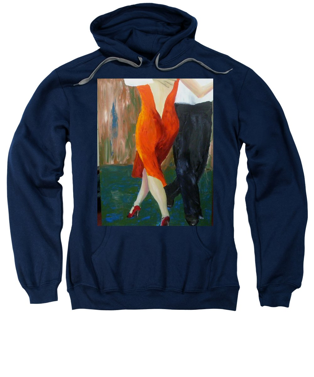 Tango Sweatshirt featuring the painting Another Tango Twirl by Keith Thue