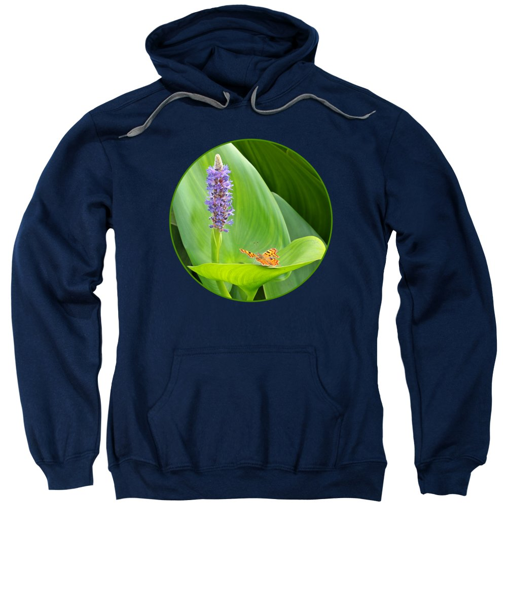 Butterfly Sweatshirt featuring the photograph Anticipation by Gill Billington