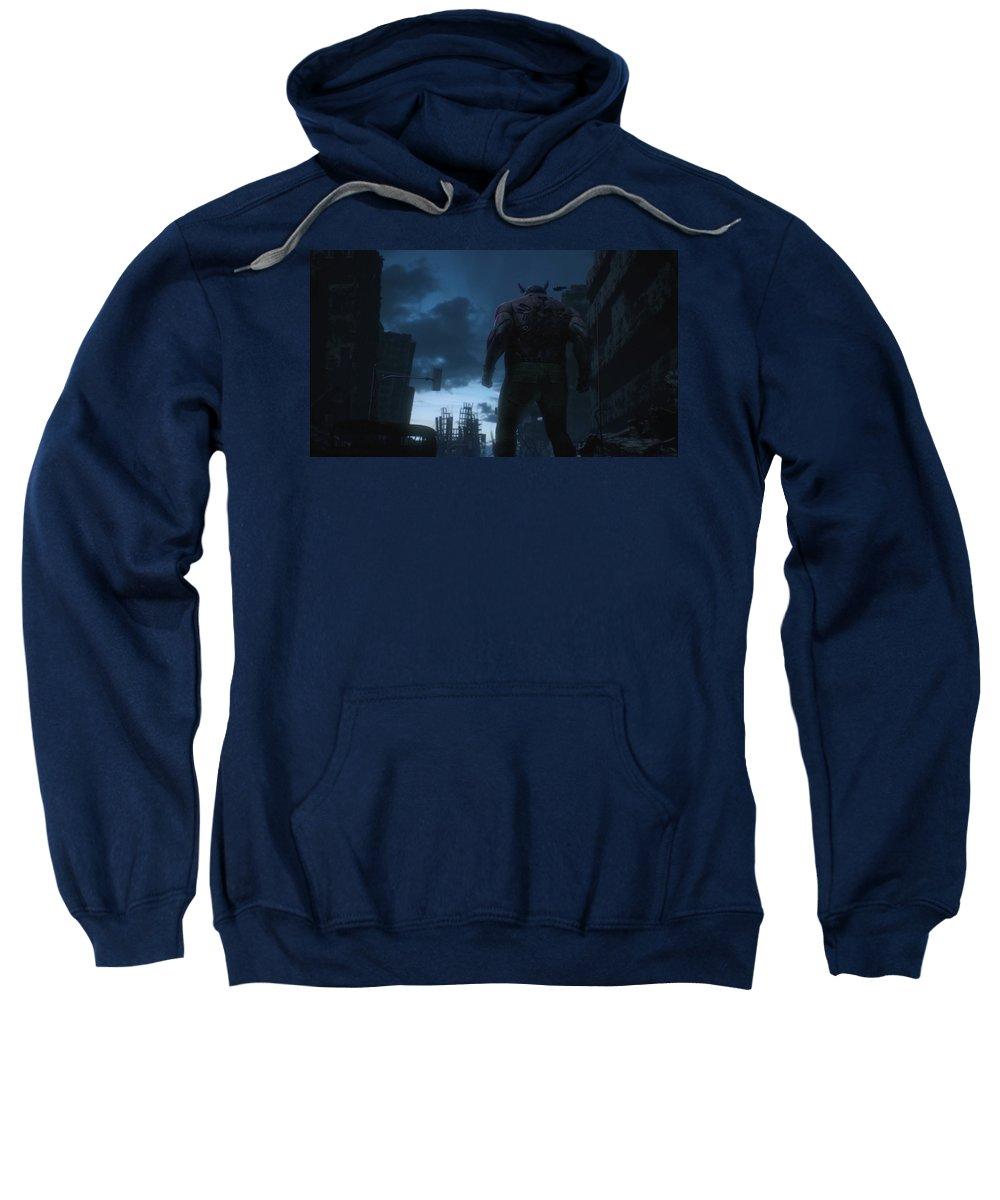 Appleseed Alpha Sweatshirt featuring the digital art Appleseed Alpha by Bert Mailer