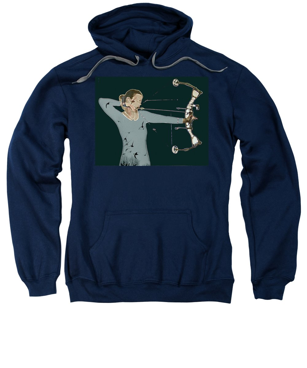 Archery Sweatshirt featuring the photograph Archer by Sara Stevenson