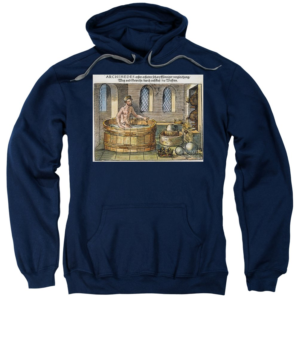 3rd Century B.c. Sweatshirt featuring the photograph Archimedes by Granger