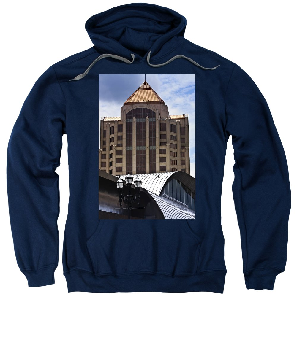 Architecture Sweatshirt featuring the photograph Architectural Differences Roanoke Virginia by Teresa Mucha