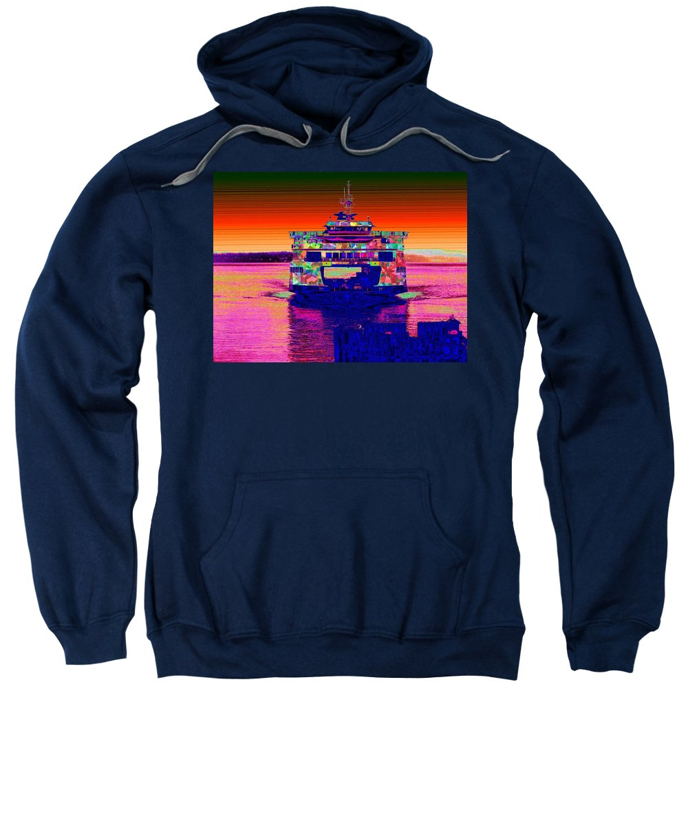 Home Sweatshirt featuring the digital art Arriving Home by Tim Allen