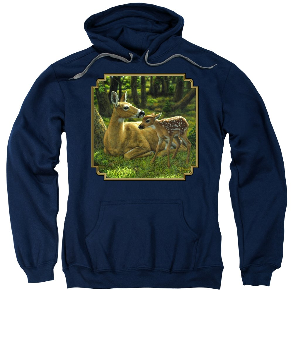 Deer Hooded Sweatshirts T-Shirts