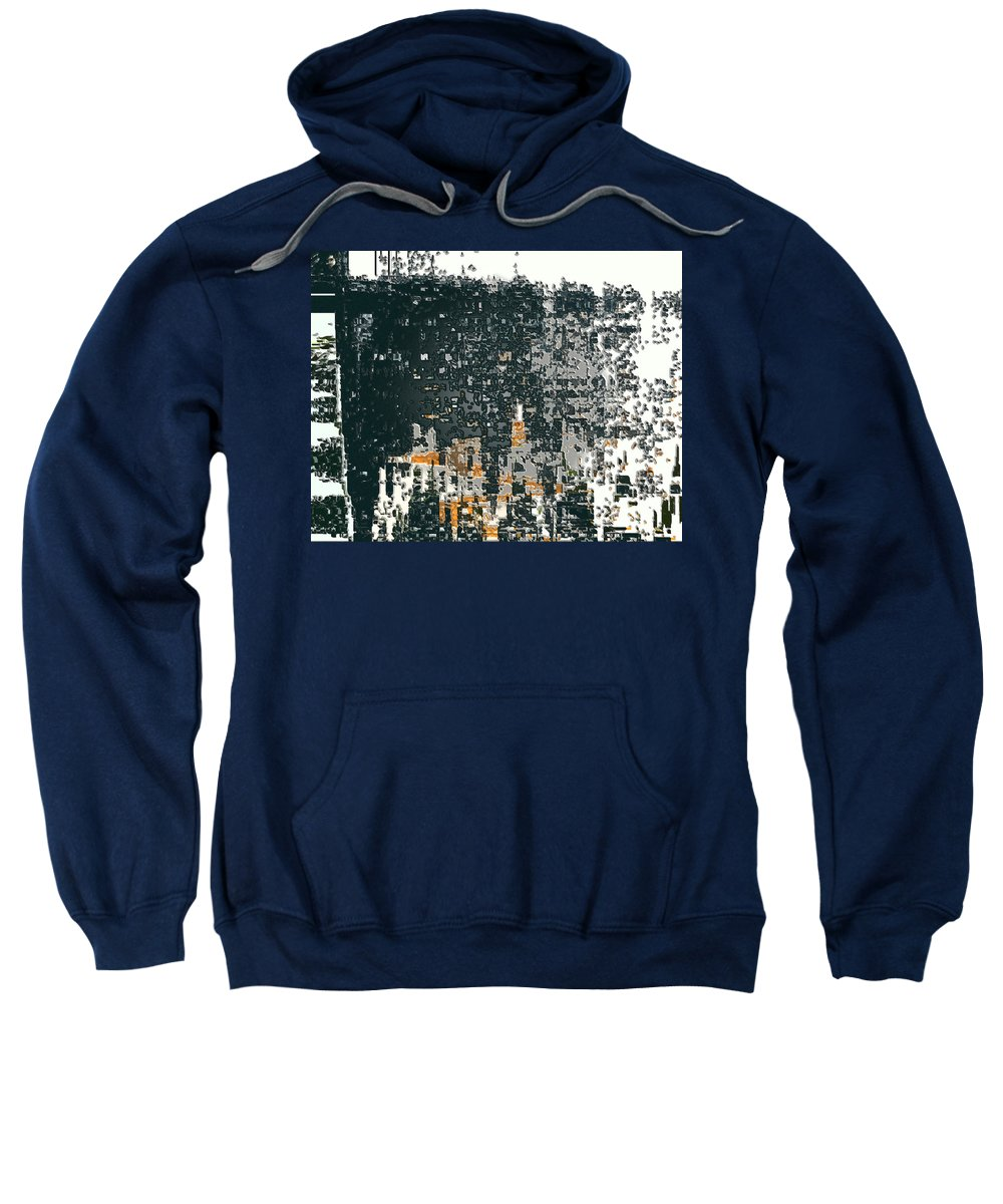 Abstract Sweatshirt featuring the digital art At The Edge Of Consciousness by Lenore Senior