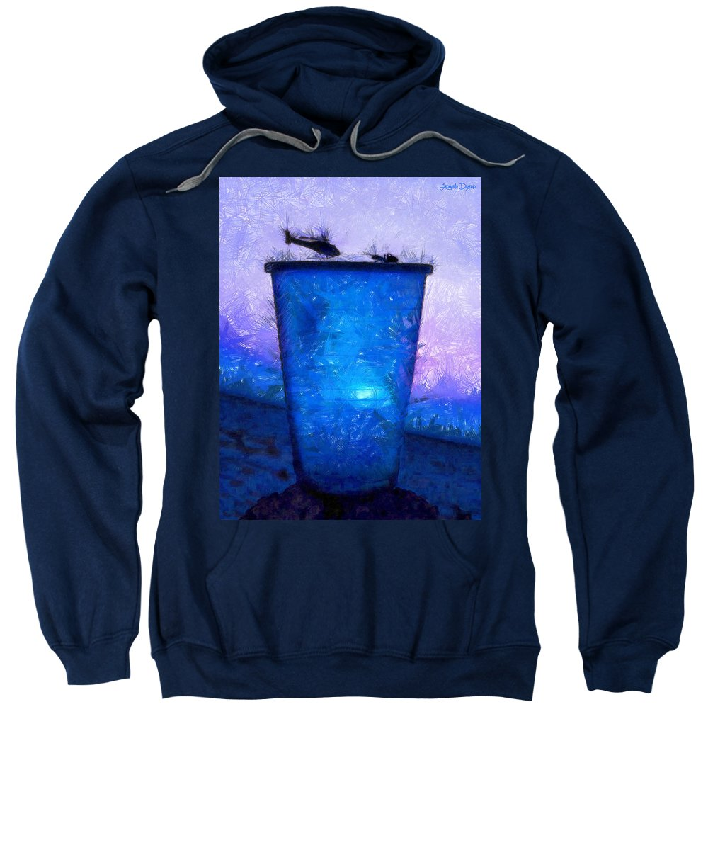 Ant Sweatshirt featuring the painting Atomic Ant - Pa by Leonardo Digenio