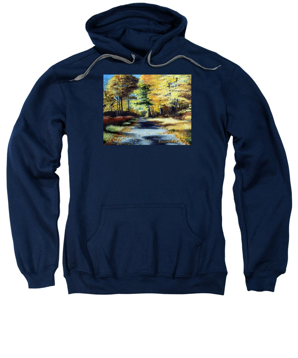Landscape Sweatshirt featuring the painting Autumn Colors by Paul Walsh