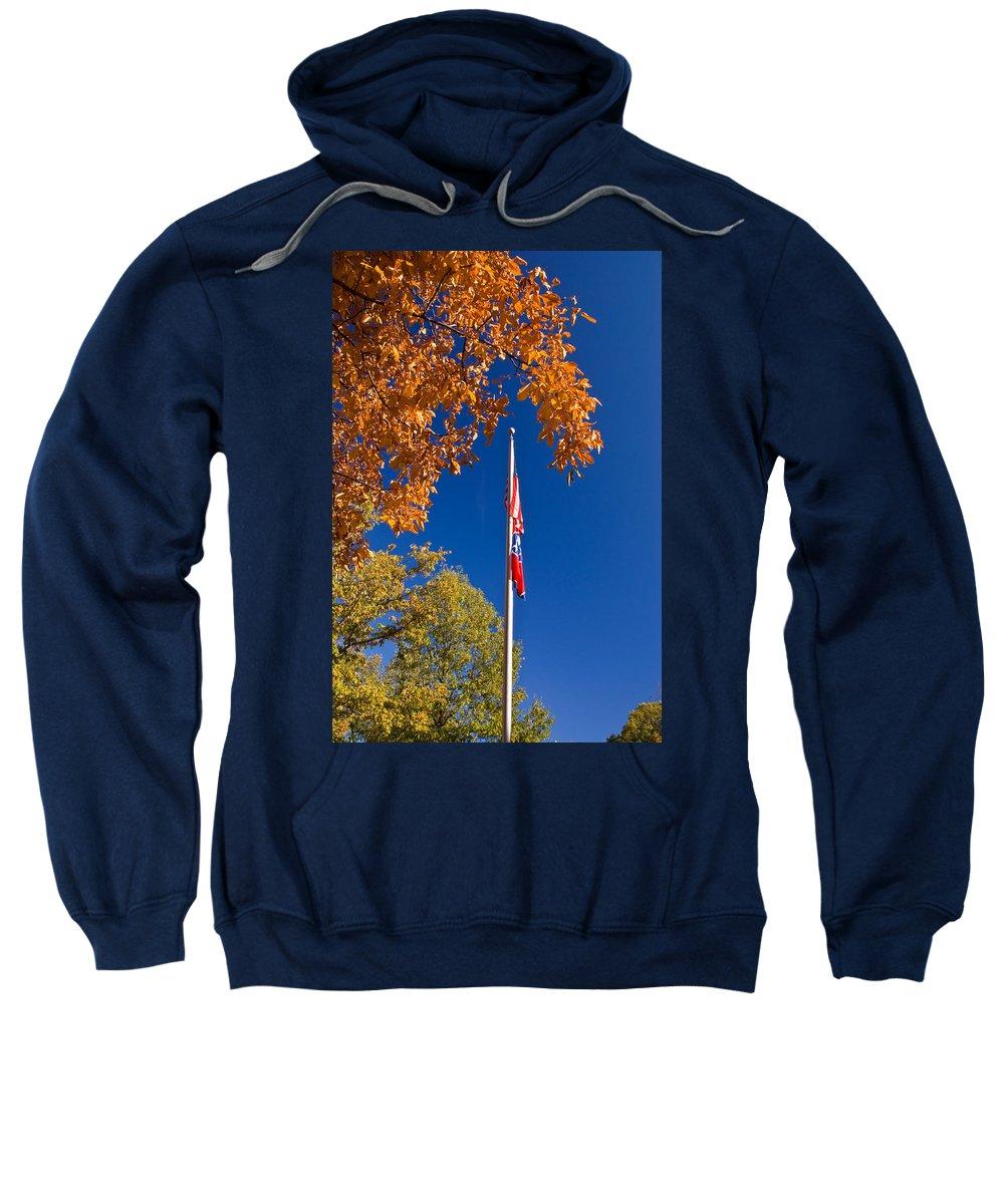 Flag Sweatshirt featuring the photograph Autumn Flag by Douglas Barnett