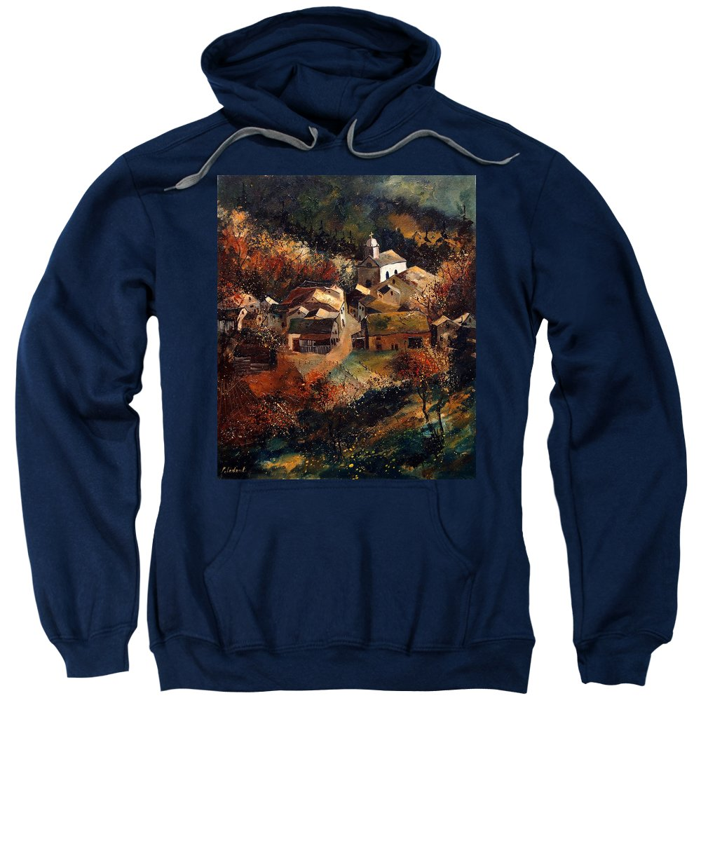 Tree Sweatshirt featuring the painting Autumn In Frahan by Pol Ledent