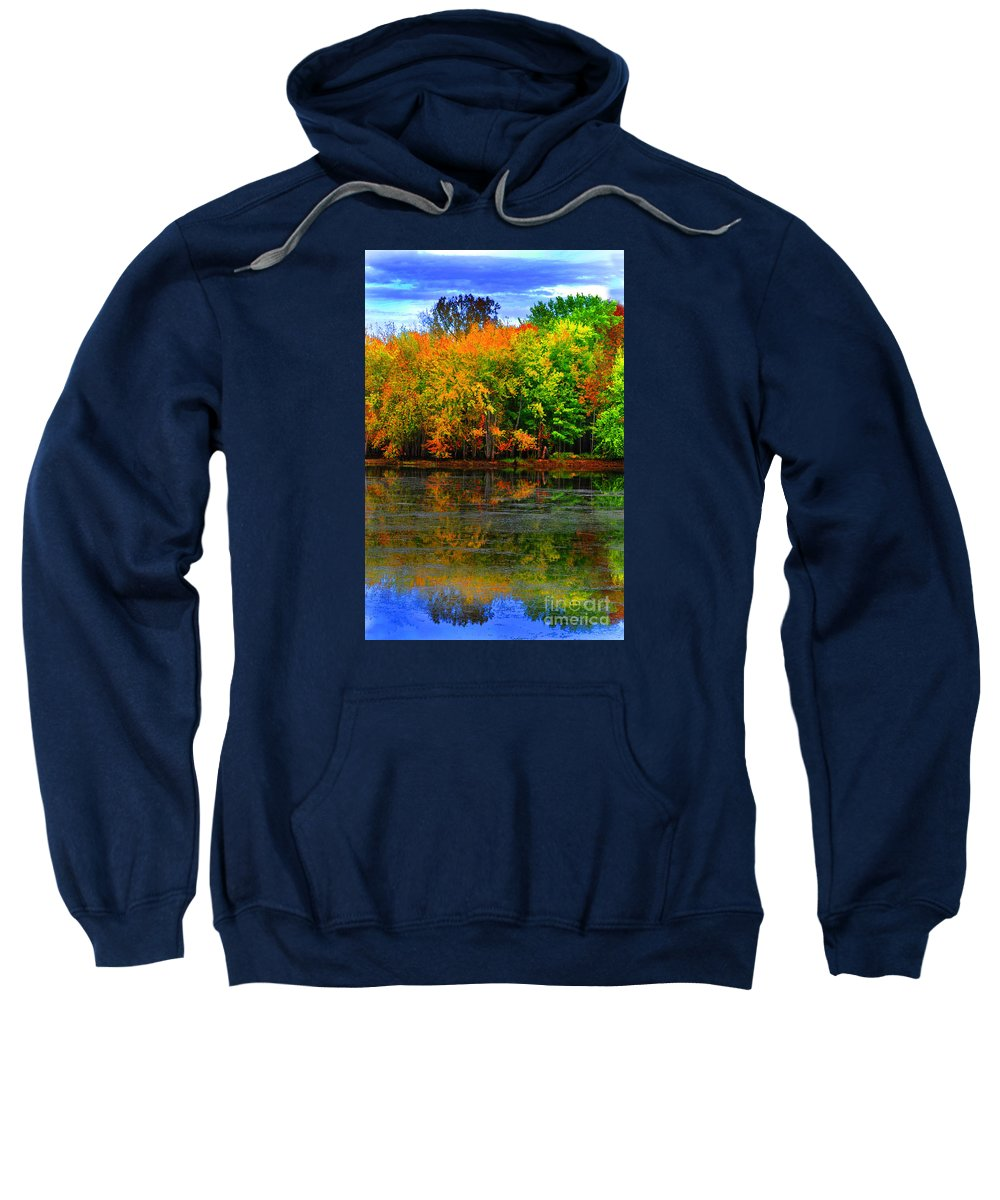 Diane Berry Sweatshirt featuring the photograph Autumn Sings by Diane E Berry