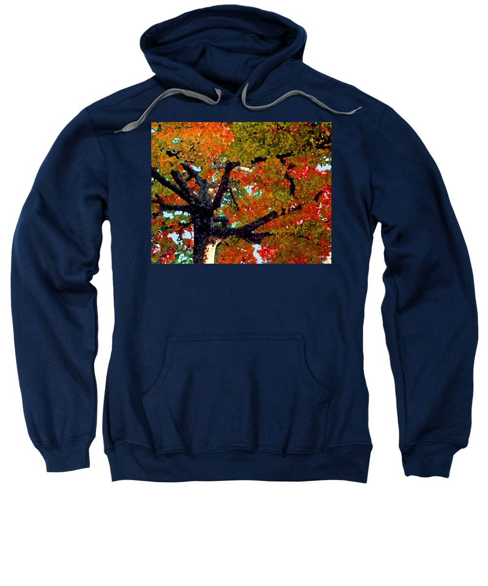 Fall Sweatshirt featuring the photograph Autumn Tree by Steve Karol