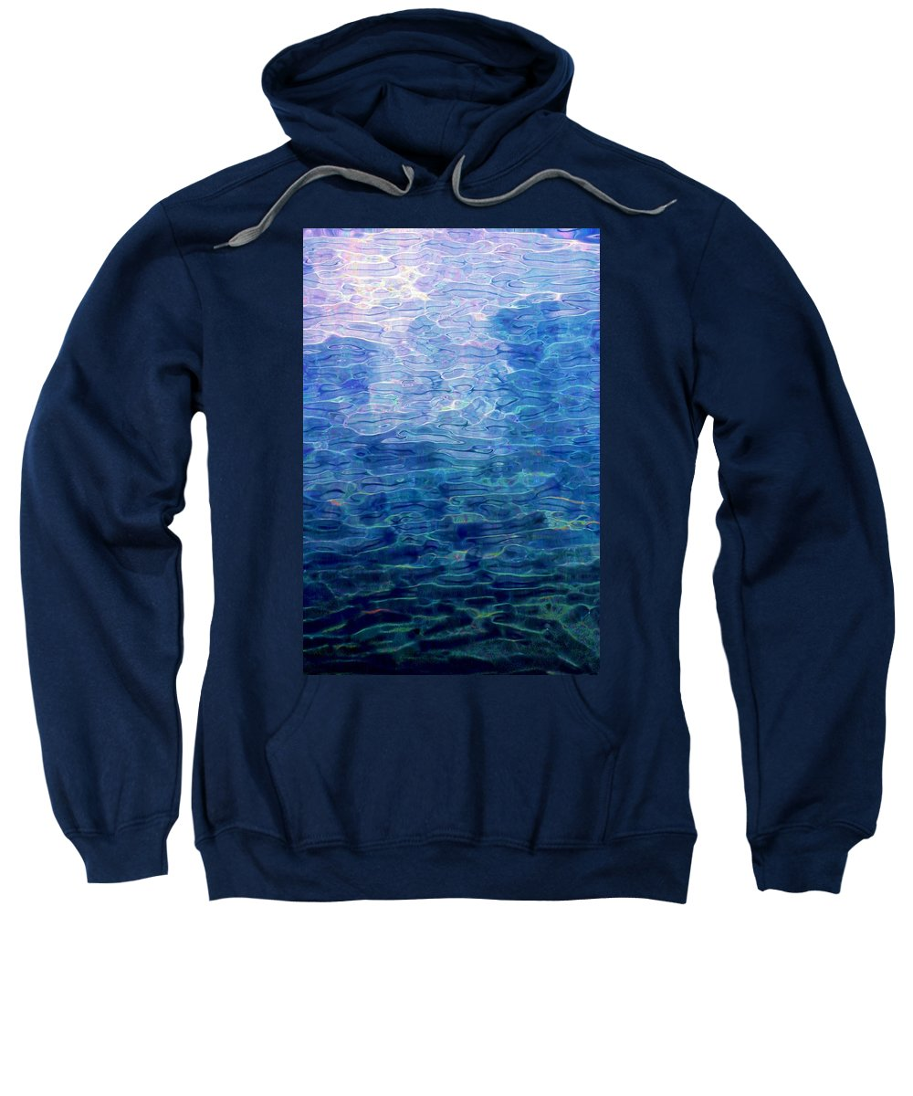 Abstract Digital Painting Sweatshirt featuring the digital art Awakening From The Depths Of Slumber by David Lane