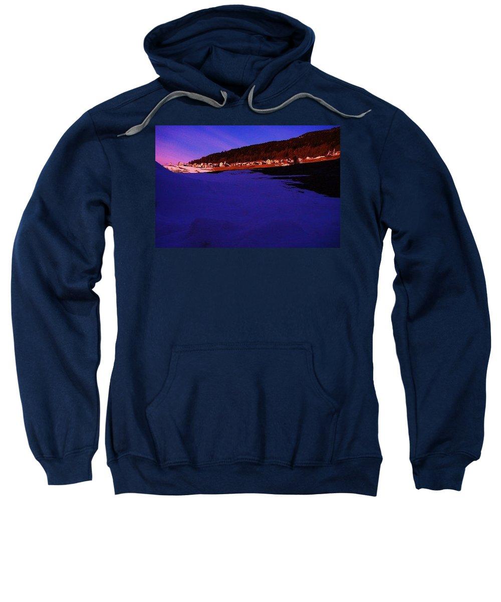 Switzerland Sweatshirt featuring the photograph Azul by Nila Poduschco
