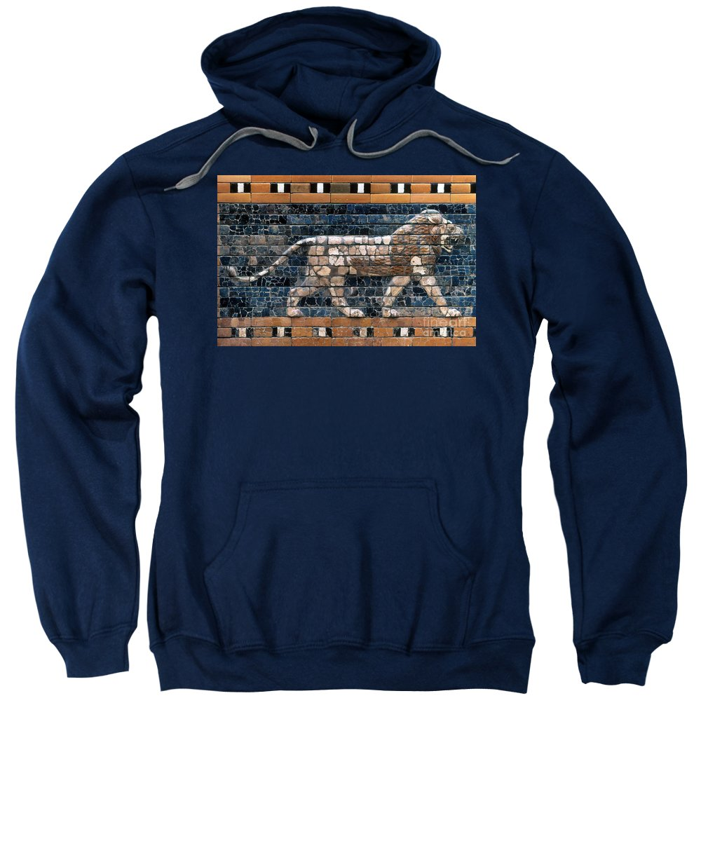 6th Century B.c. Sweatshirt featuring the photograph Babylon: Lion by Granger