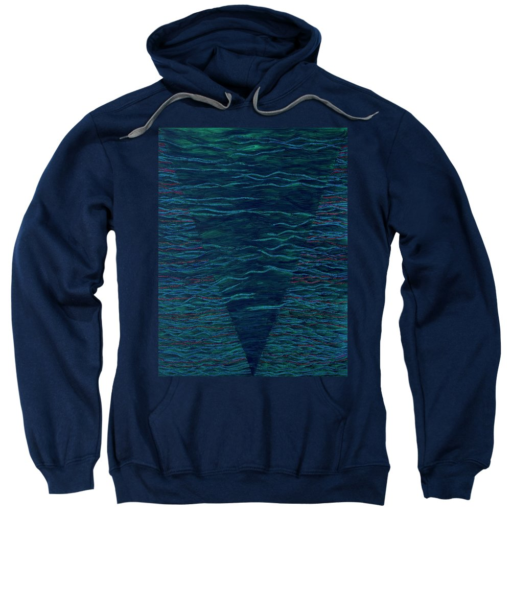 Spiritual Sweatshirt featuring the painting Back To Heaven 2 by Kyung Hee Hogg