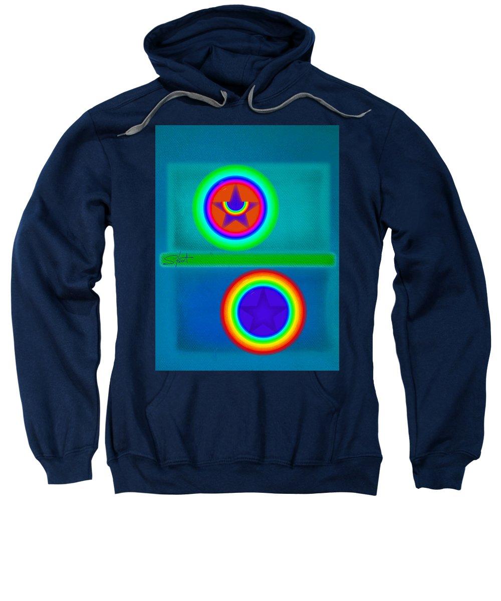 Balance Sweatshirt featuring the painting Balancing Act by Charles Stuart
