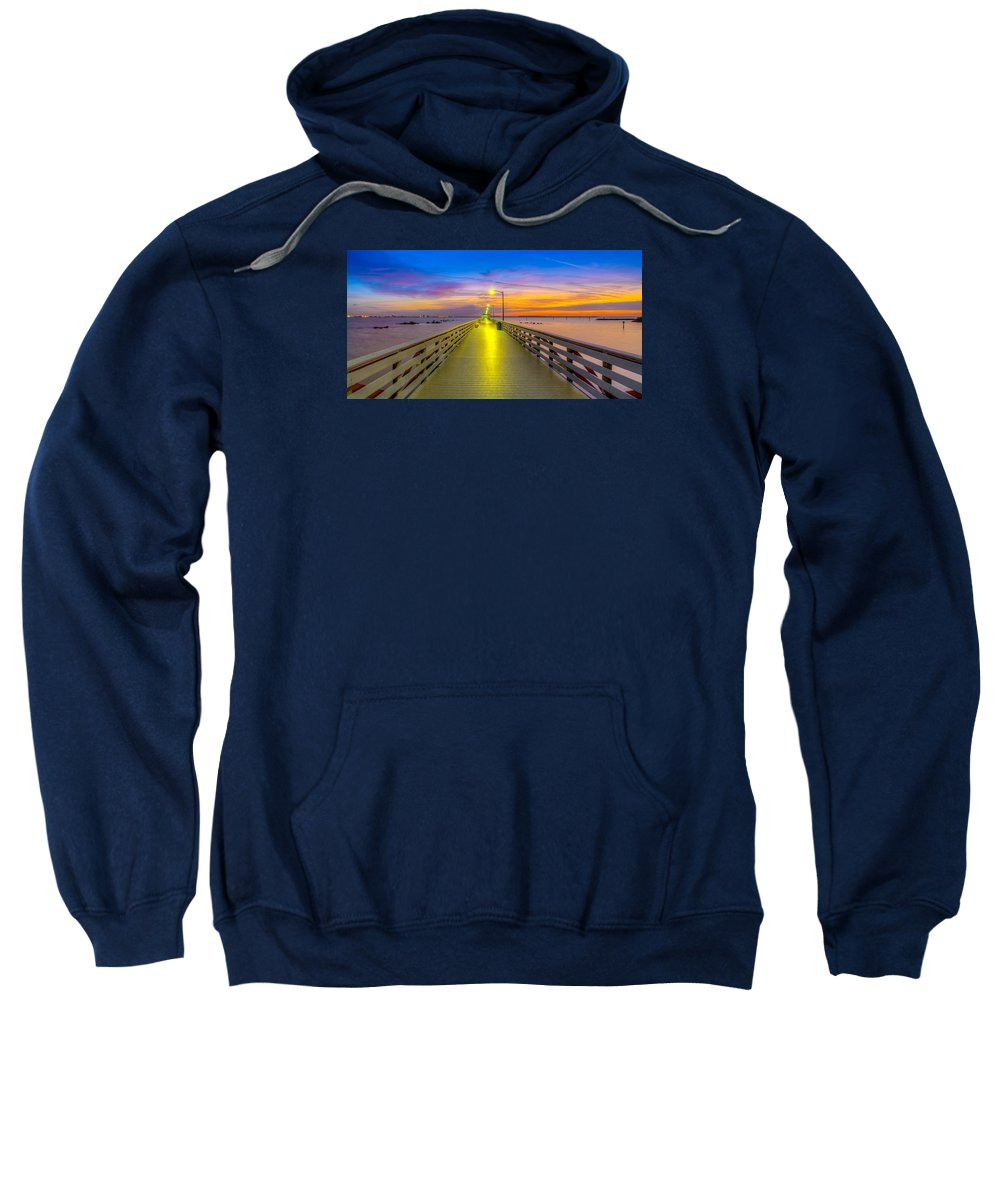 Ballast Point Sweatshirt featuring the photograph Ballast Point Sunrise - Tampa, Florida by Lance Raab