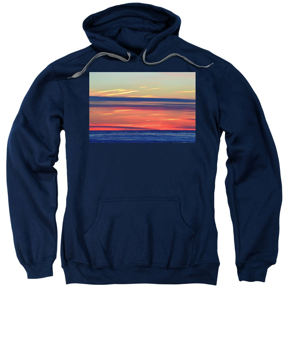 Abstract Sweatshirt featuring the photograph Bands Of Colour Two by Lyle Crump