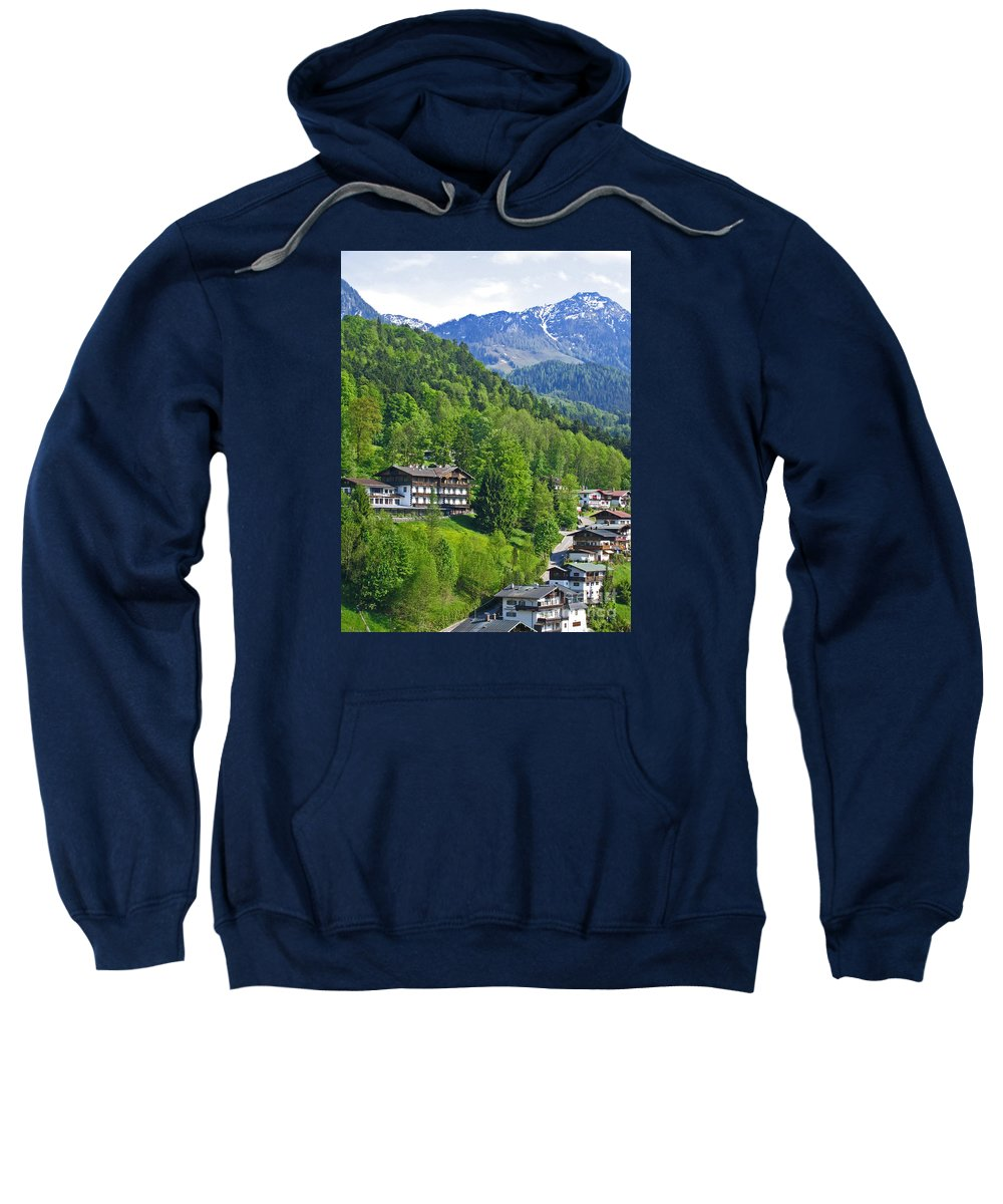 Germany Sweatshirt featuring the photograph Bavarian Mountainside by Ann Horn