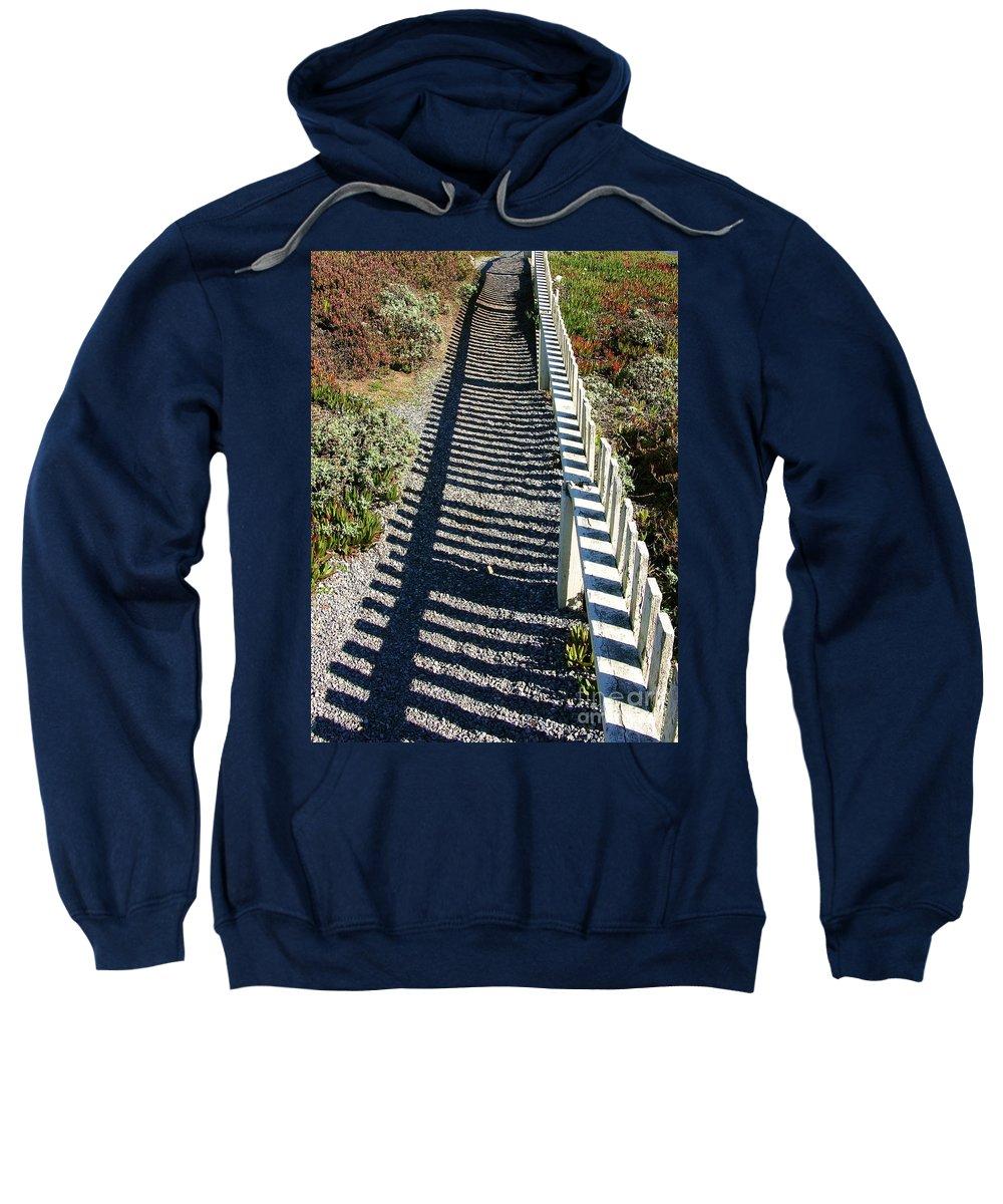 Half Moon Bay Sweatshirt featuring the photograph Beach Path by Carol Groenen