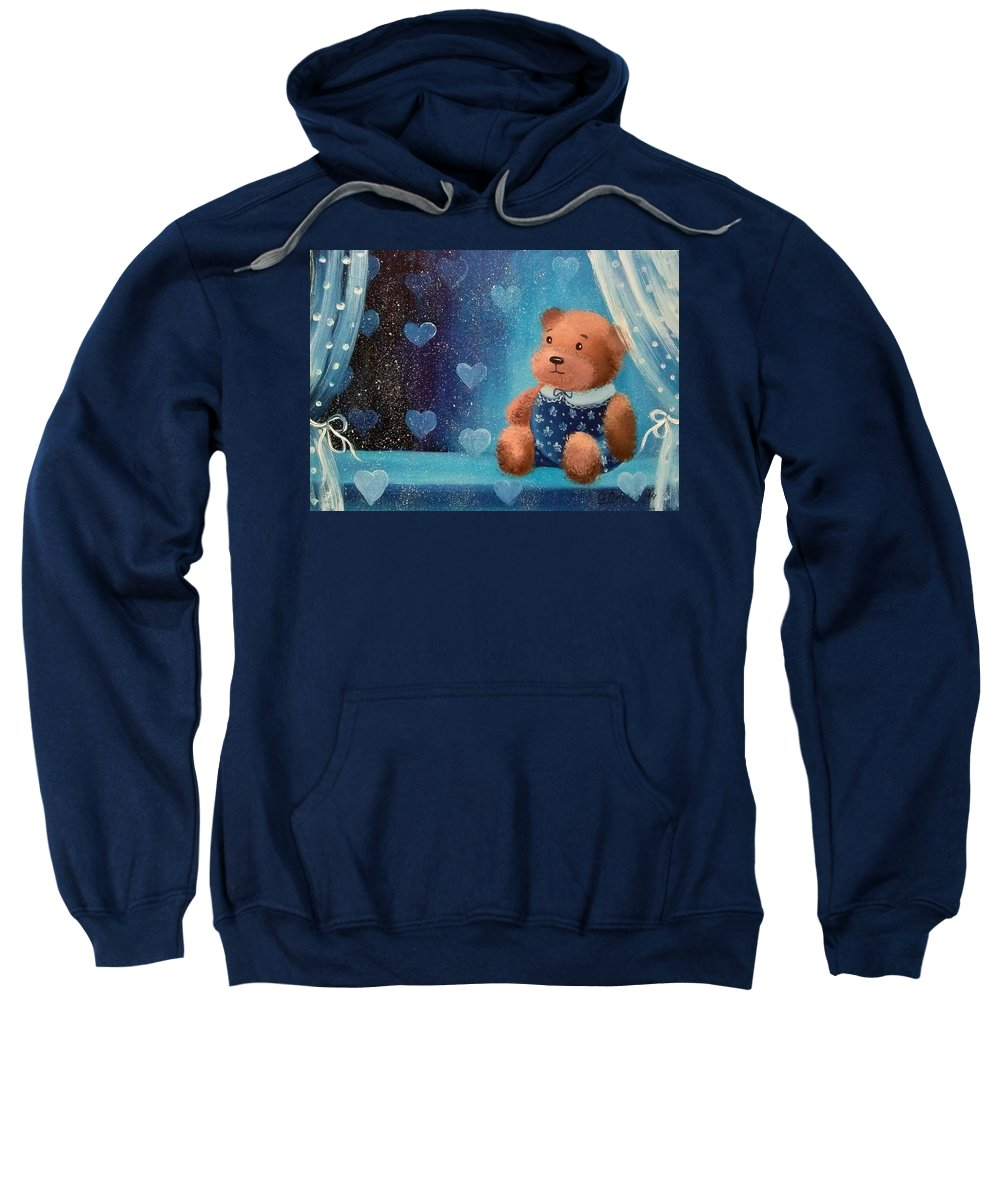 Bear Sweatshirt featuring the painting Bear by Olha Darchuk