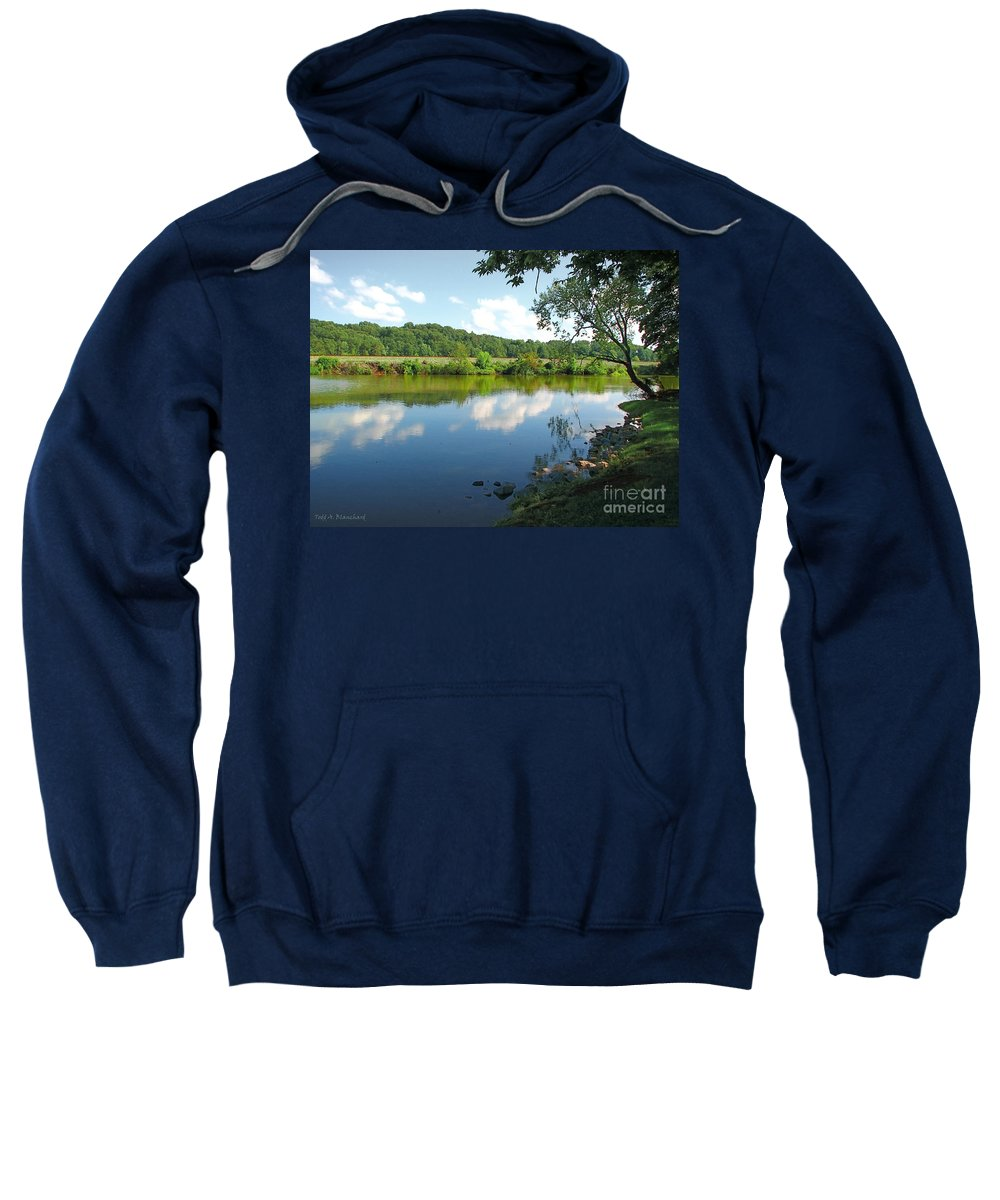 Landscape Sweatshirt featuring the photograph Beautiful Blue Water by Todd A Blanchard