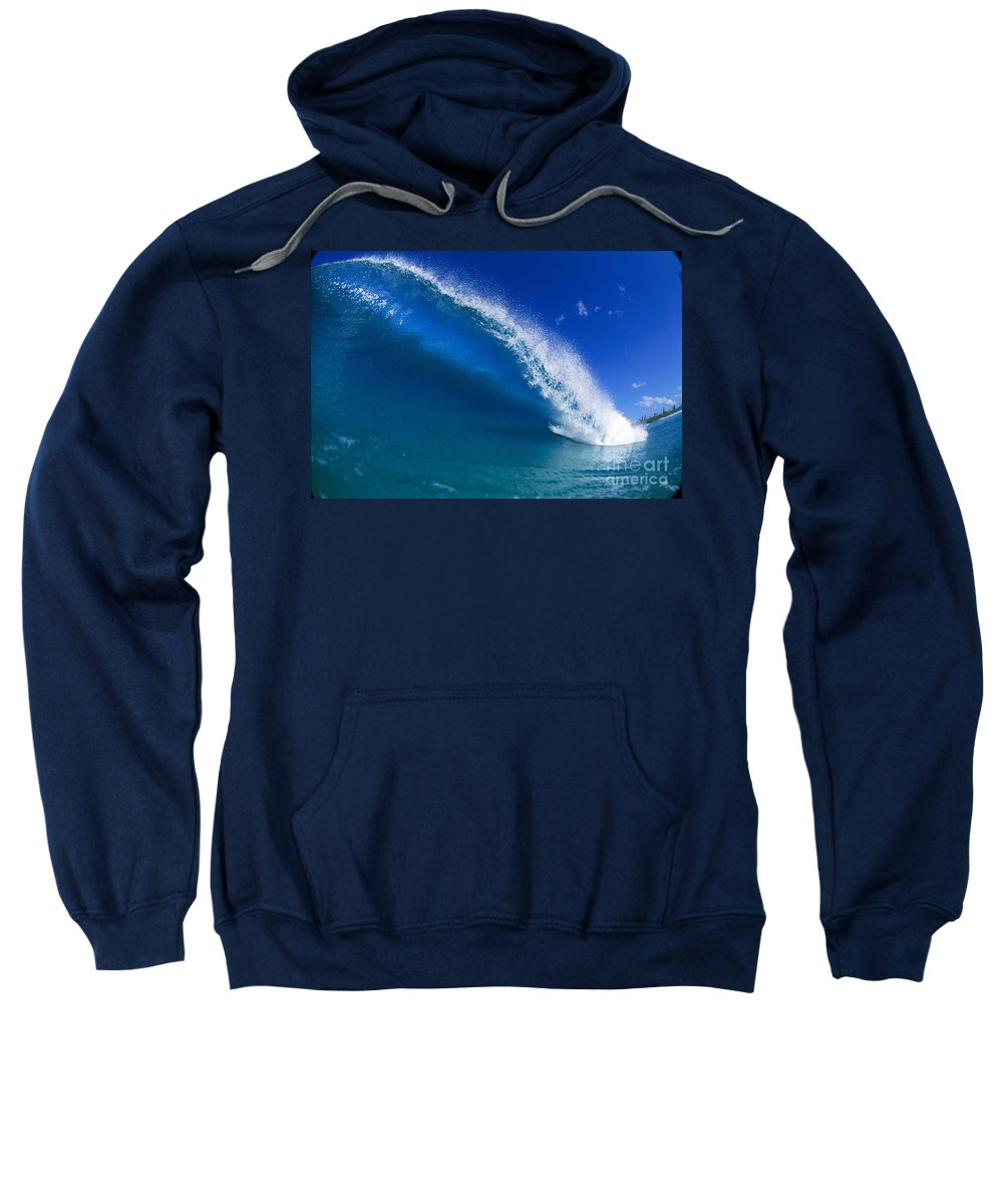 Afternoon Sweatshirt featuring the photograph Beautiful Glassy Wave by Ali O Neal - Printscapes