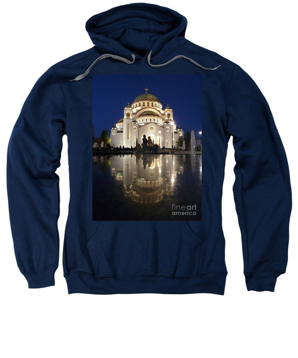 Danica Radma Sweatshirt featuring the photograph Belgrade Serbia Orthodox Cathedral Of Saint Sava by Danica Radman