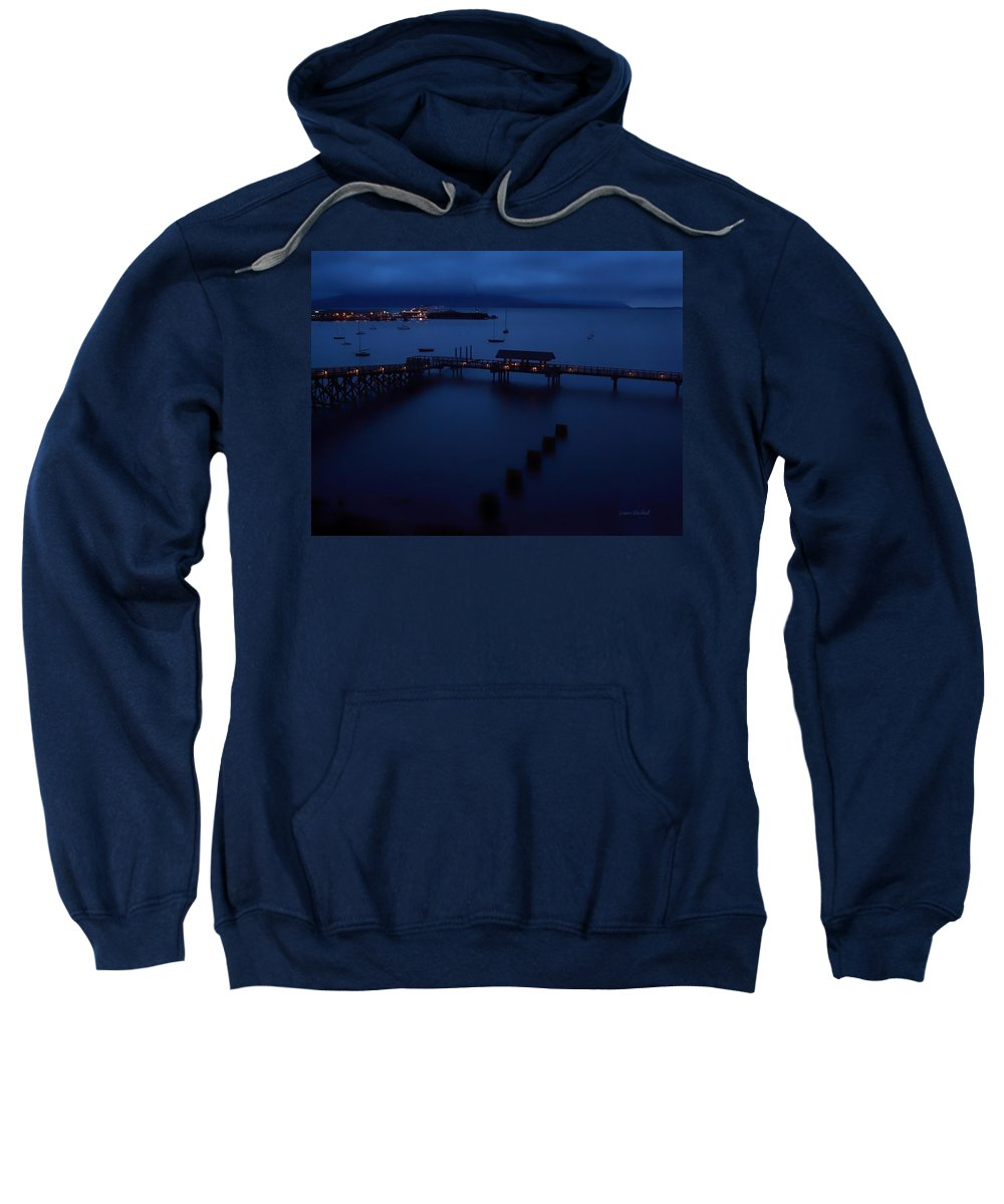 Bellingham Bay Sweatshirt featuring the photograph Bellingham Bay by Donna Blackhall