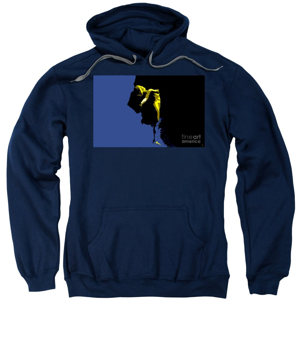 Heaven Sweatshirt featuring the painting Between Heaven And Earth by David Lee Thompson