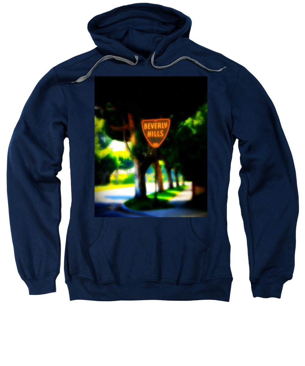 Beverly Hills Sweatshirt featuring the photograph Beverly Hills Sign by Perry Webster