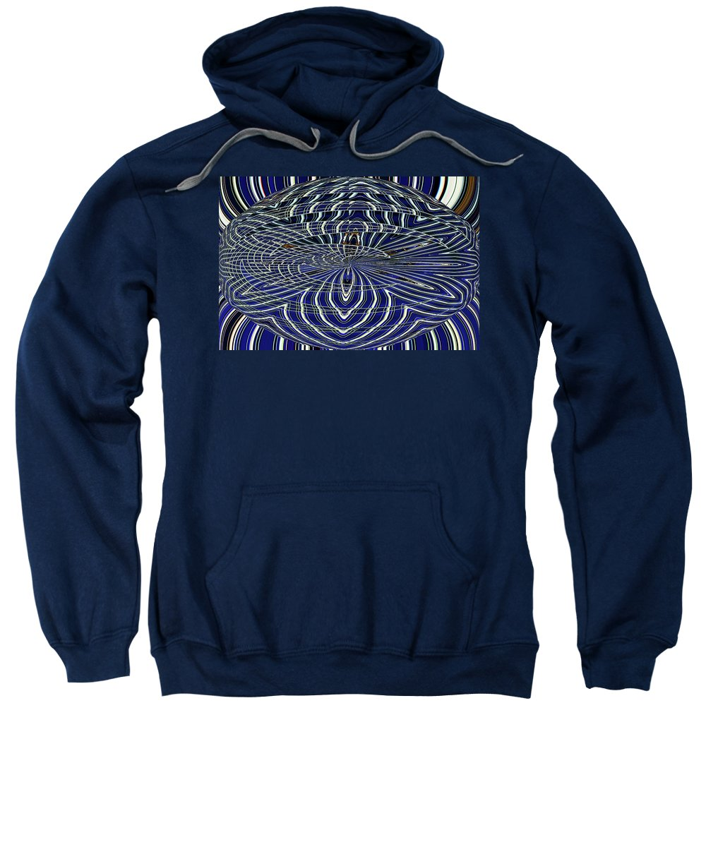 Big Building Abstract Sweatshirt featuring the digital art Big Building Abstract by Tom Janca