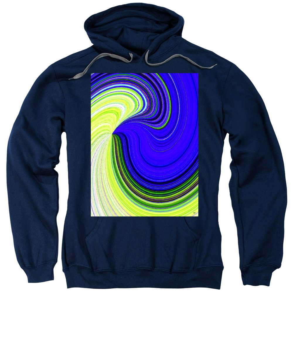Abstract Sweatshirt featuring the digital art Bionetwork Flow by Will Borden