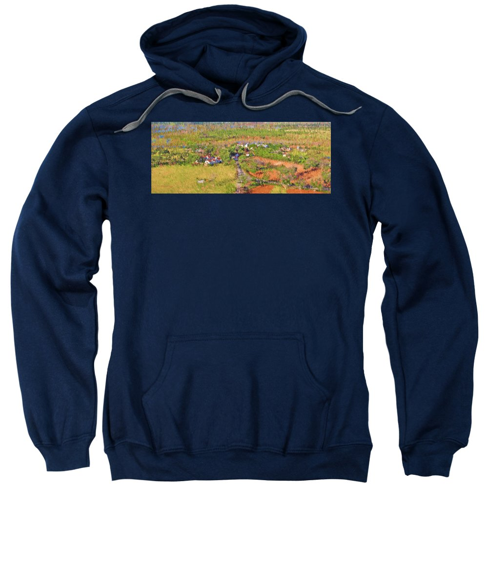 Ranch Sweatshirt featuring the painting Bird Over Santa Rosa, Nbr 1e by Will Barger