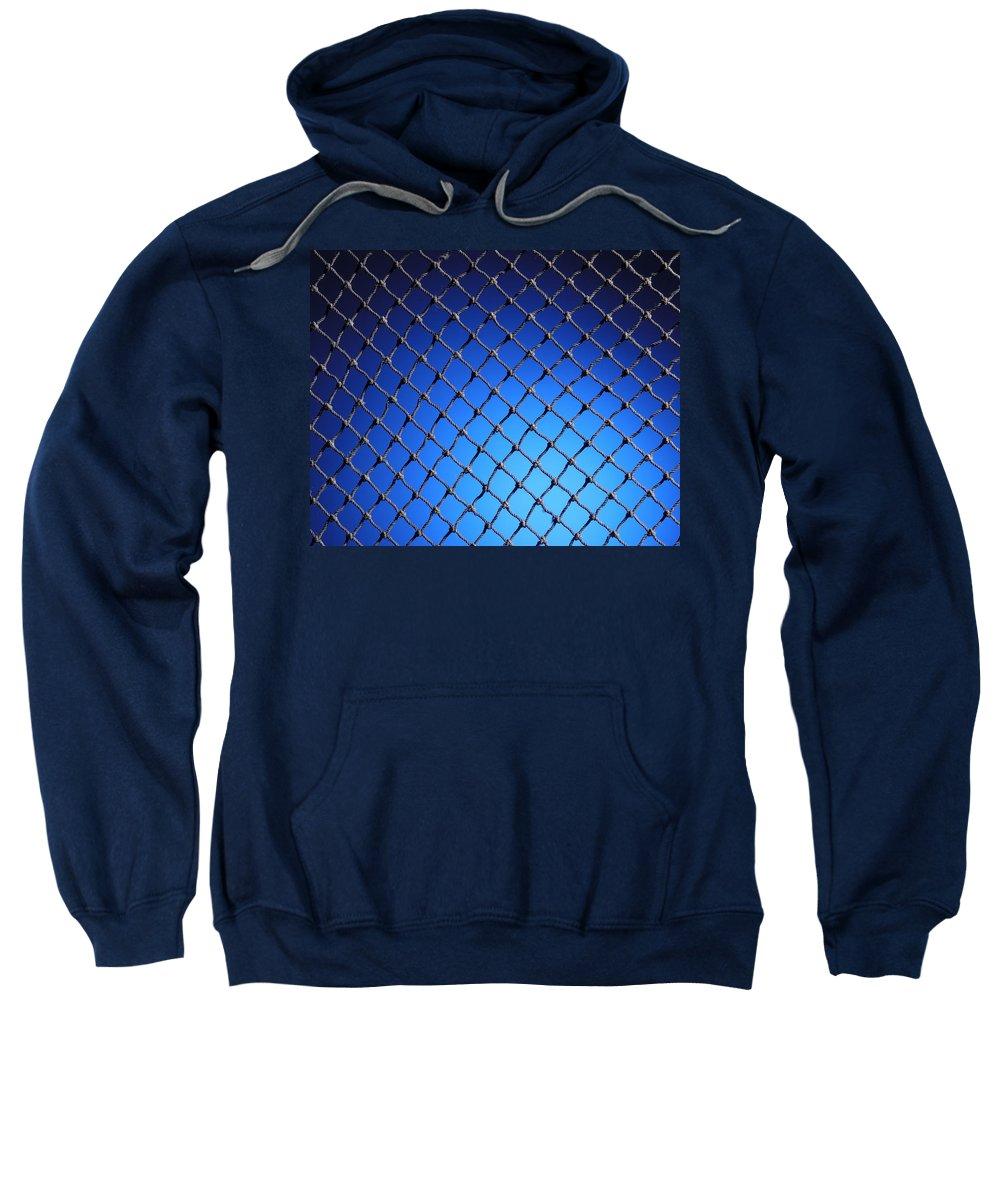 Net Sweatshirt featuring the photograph Black Net by Kelley King