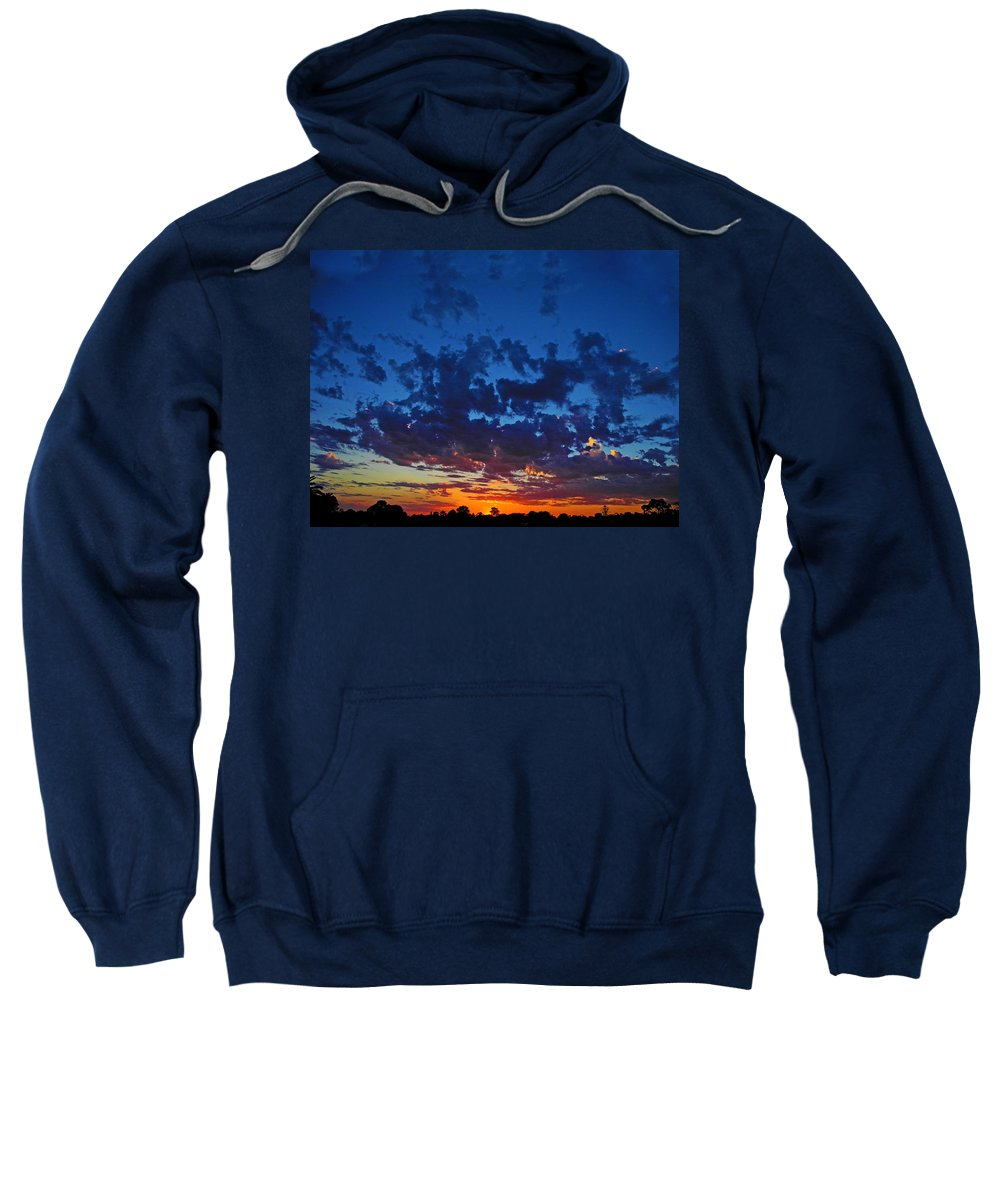 Sunset Sweatshirt featuring the photograph Blink Sunset by Mark Blauhoefer