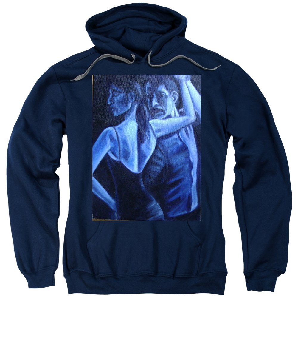 Sweatshirt featuring the painting Bludance by Toni Berry