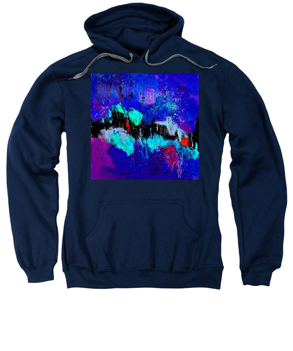 Abstract Sweatshirt featuring the painting Blue Abstract 55698 by Pol Ledent