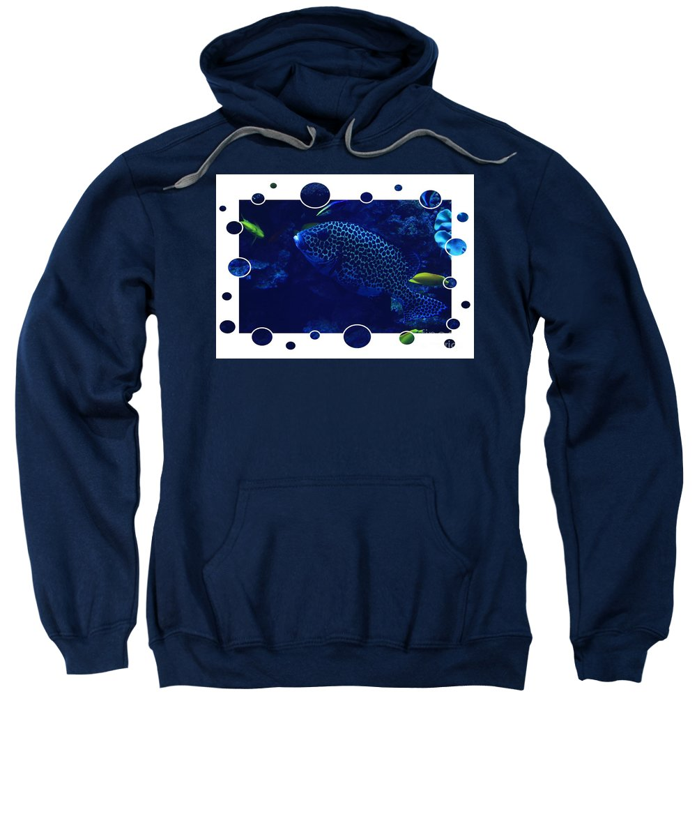Blue Sweatshirt featuring the photograph Blue Fish by Carol Groenen