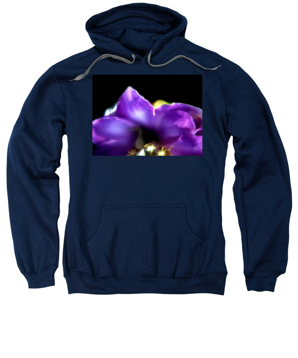 Flower Sweatshirt featuring the photograph Blue Flower by Lee Santa