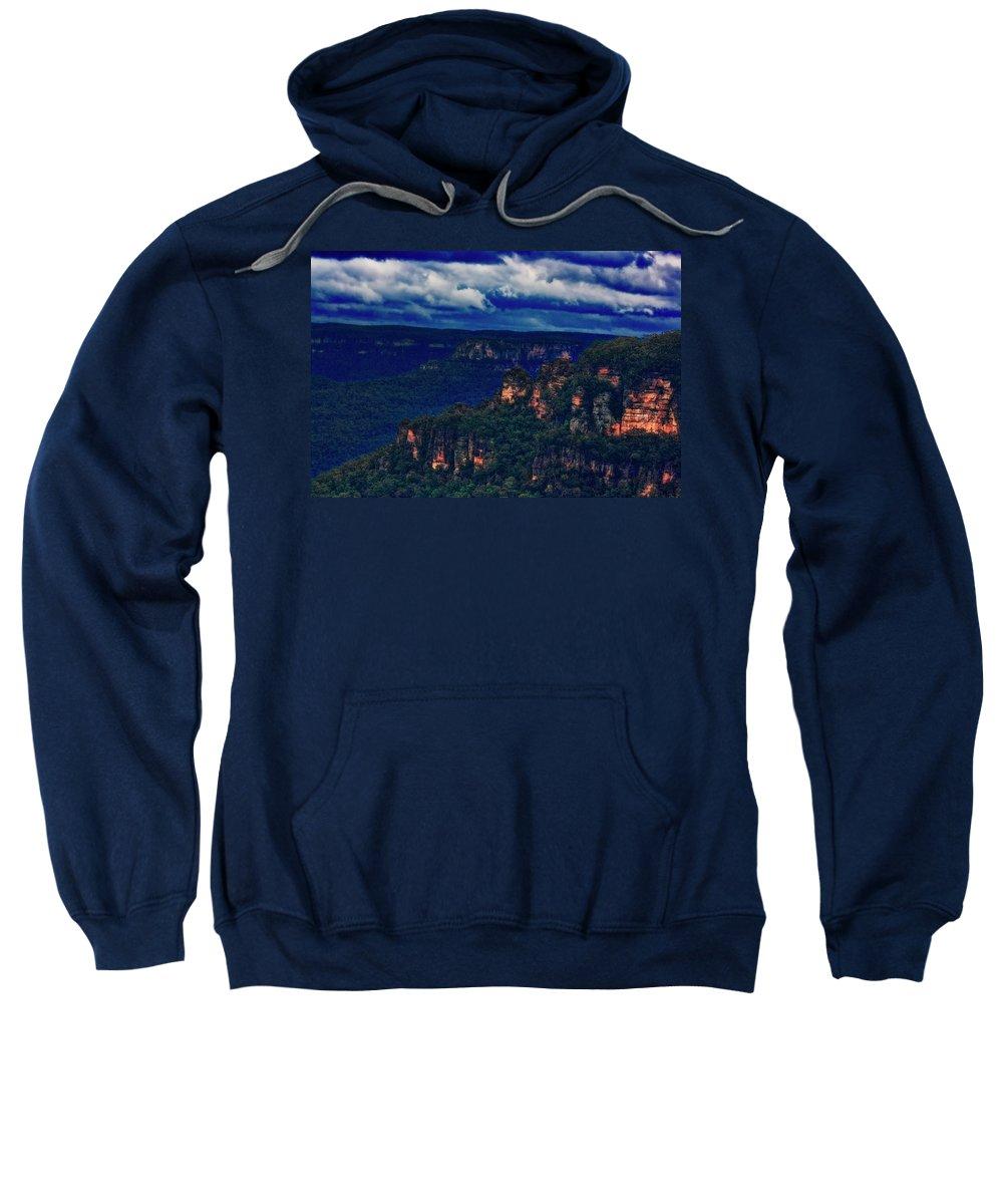 Blue Mountains Sweatshirt featuring the photograph Blue Mountains by Douglas Barnard