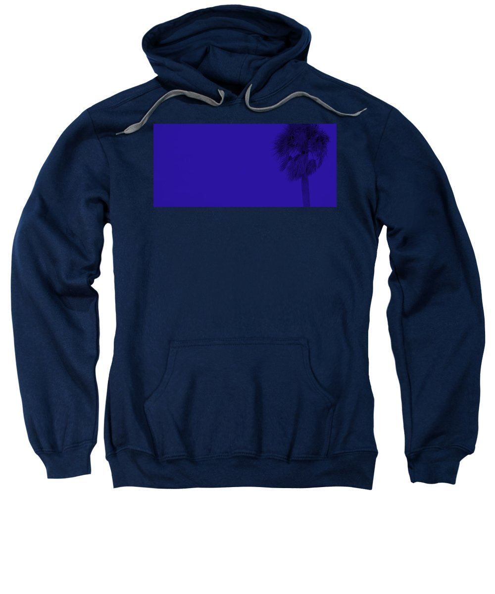 Landscape Sweatshirt featuring the photograph Blue Palm by Ed Smith