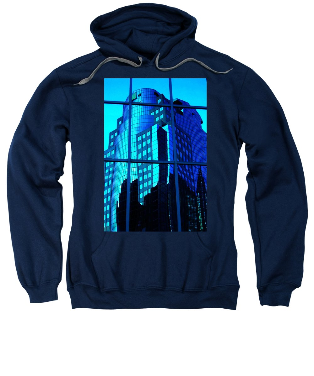 North America Sweatshirt featuring the photograph Blue Reflections ... by Juergen Weiss