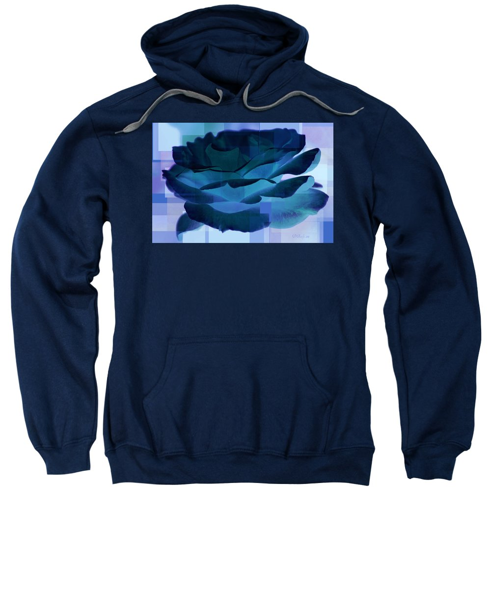 Rose Sweatshirt featuring the photograph Blue Rose by Donna Bentley