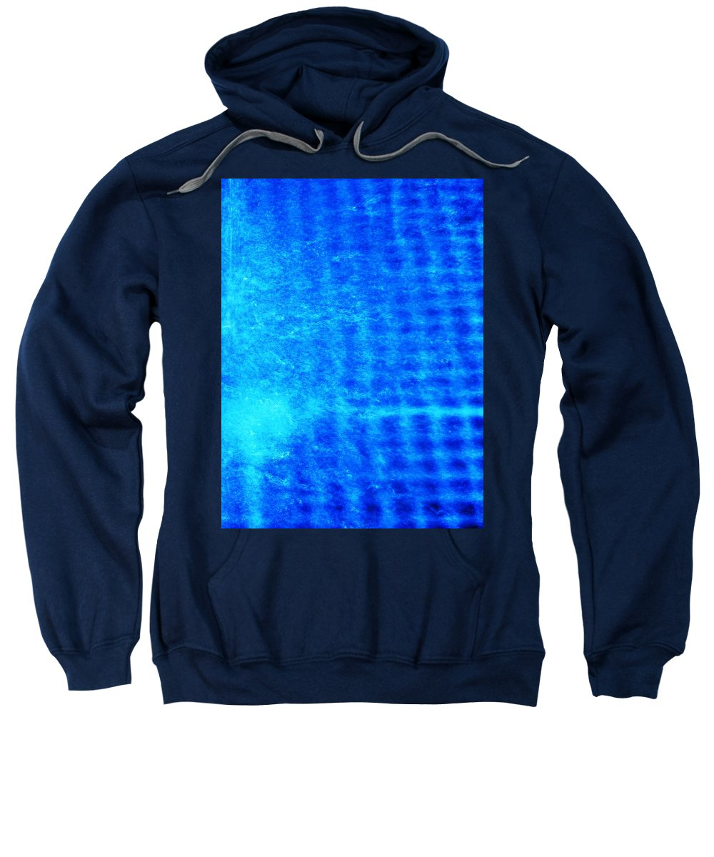 Abstract Sweatshirt featuring the photograph Blue Water Grid Abstract by Eric Schiabor
