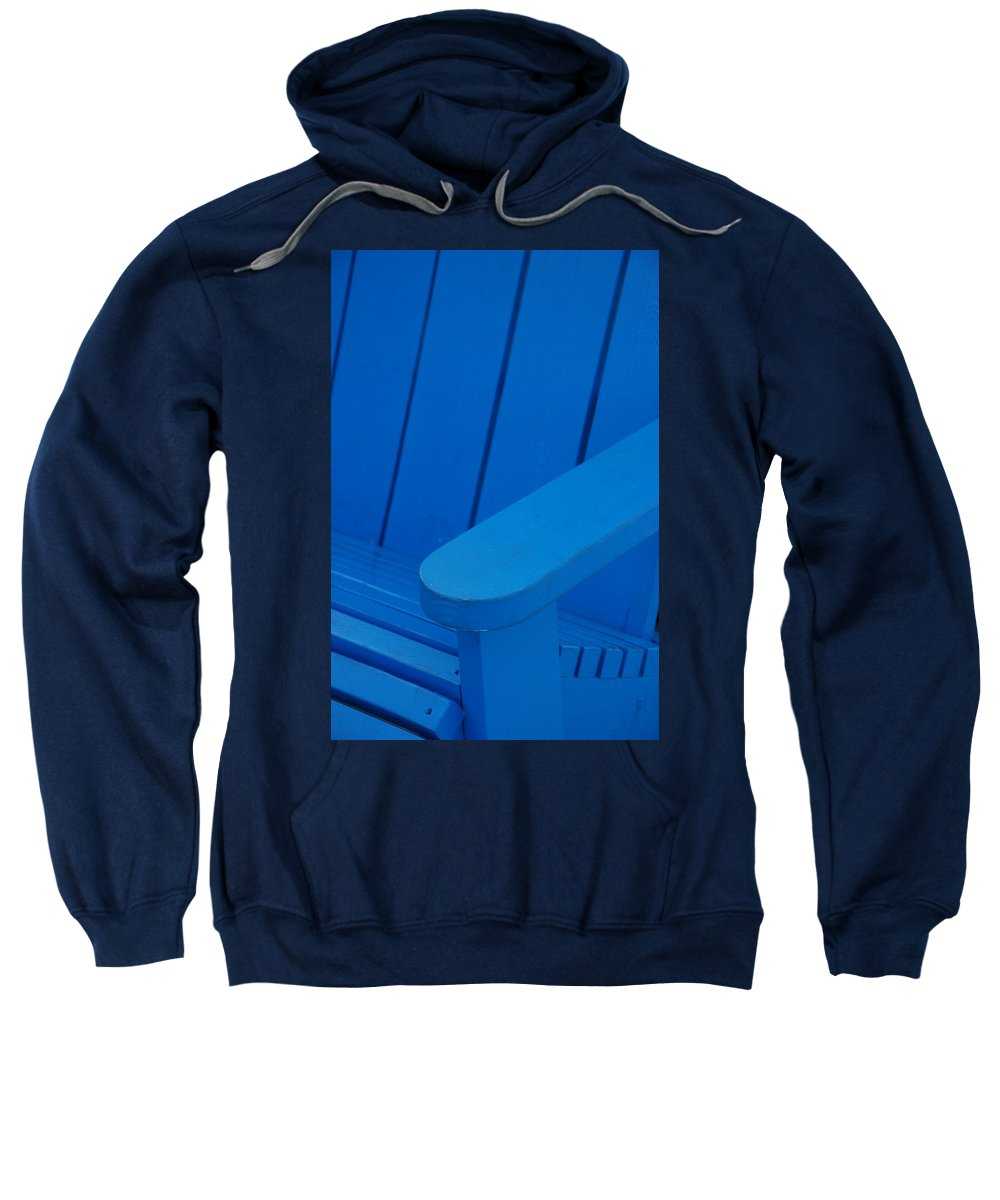 Macro Sweatshirt featuring the photograph Blue Wood by Rob Hans